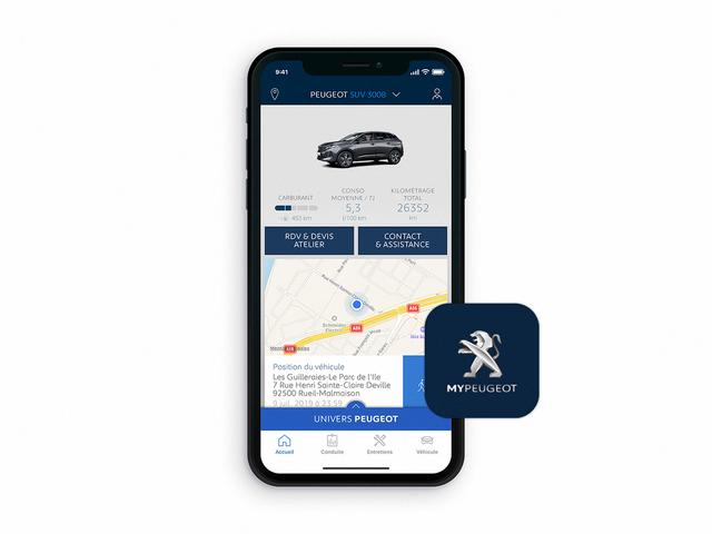Nouveau SUV PEUGEOT 3008 -  Application MyPeugeot