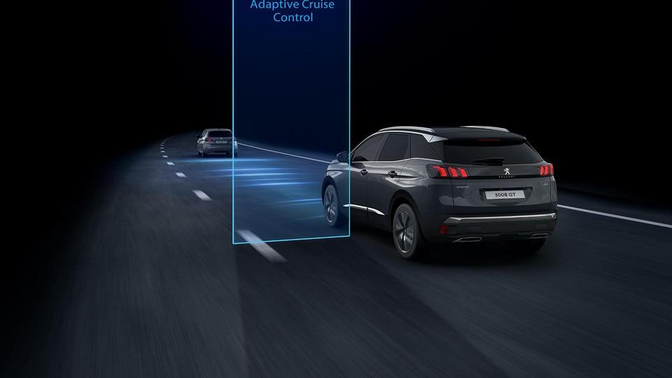 Nouveau SUV PEUGEOT 3008 - Régulateur de vitesse adaptatif