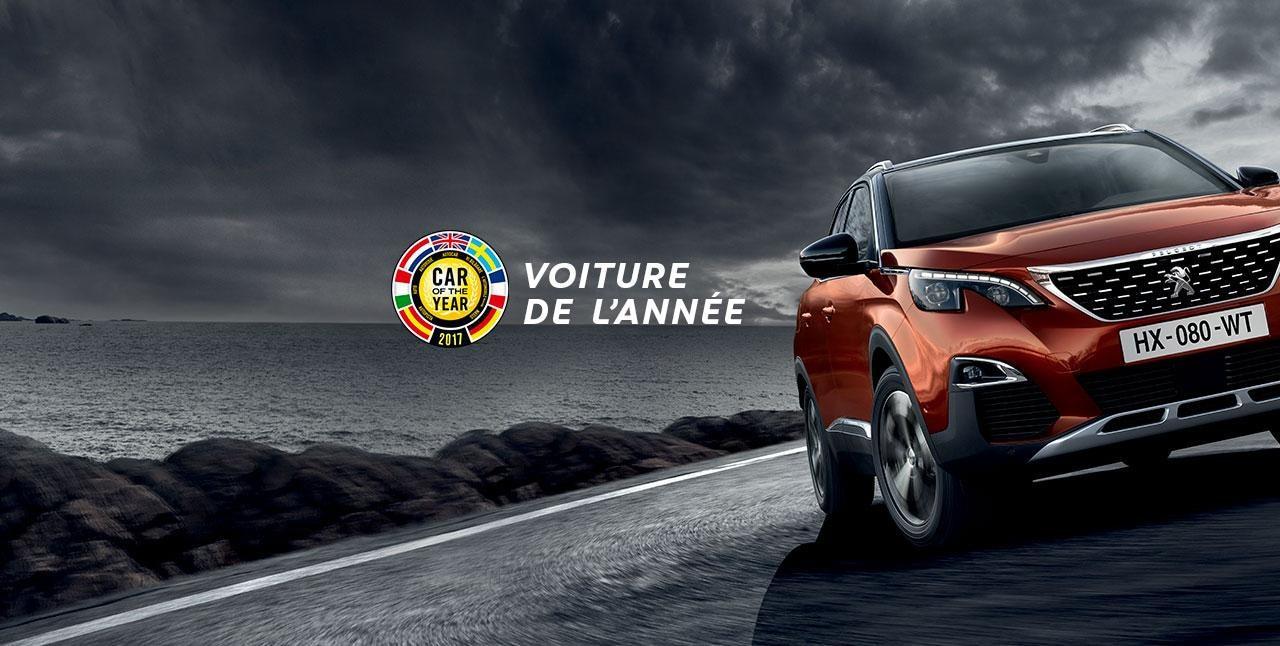Nouveau SUV Peugeot 3008 Voiture de l'année
