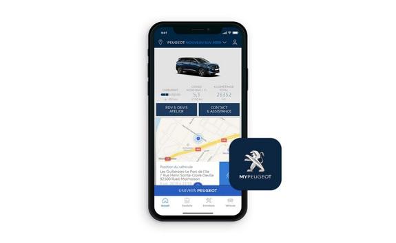 Nouveau SUV PEUGEOT 5008, application MyPeugeot®