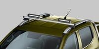 Nouveau pick-up PEUGEOT LANDTREK : phares de toit additionnels à LED sur barre de toit longitudinale