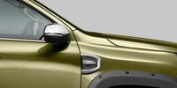 Nouveau pick-up PEUGEOT LANDTREK : enjoliveur chromé d'aile avant