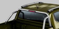Nouveau pick-up PEUGEOT LANDTREK : barres de maintien chromées sur sur benne